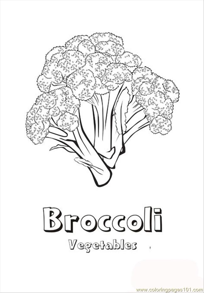 Coloring Pages Broccoli Natural