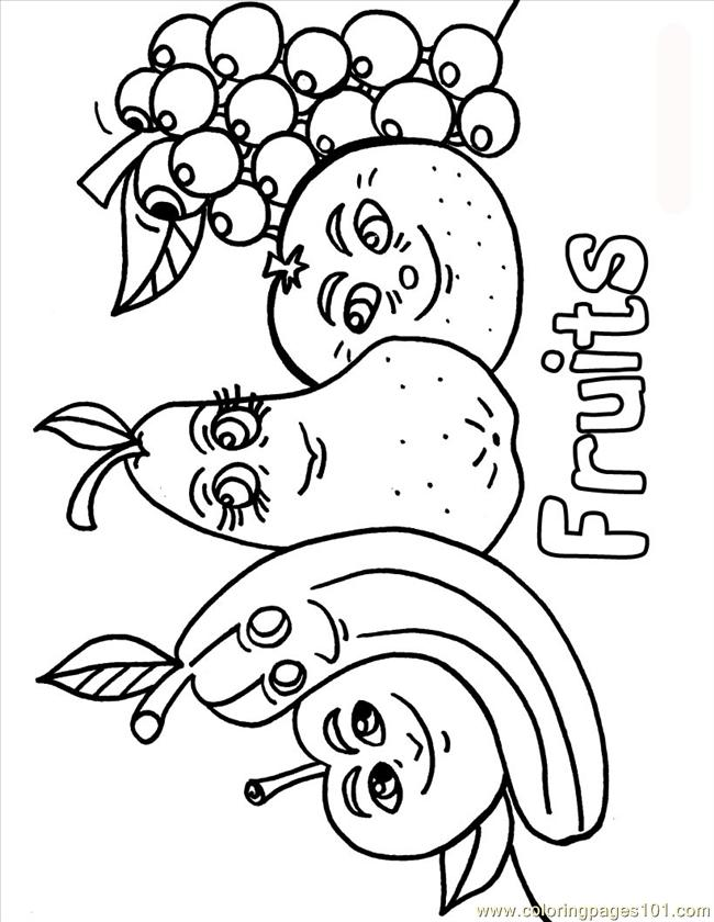 printable coloring page fruits source 0po natural world vegetables