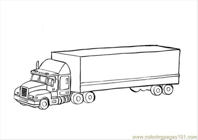 truck trailer coloring pages - photo#44
