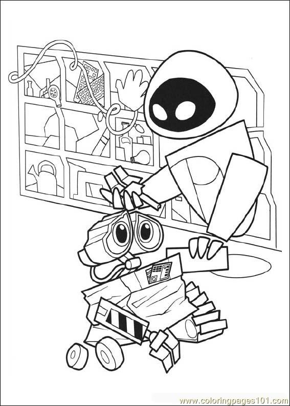 Wall E Coloring Pages Free Printable : Free printable coloring page wall e cartoons gt