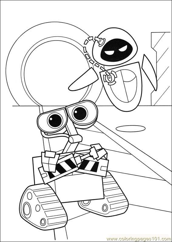 Wall E Coloring Pages Free Printable : Coloring pages wall e cartoons gt free printable