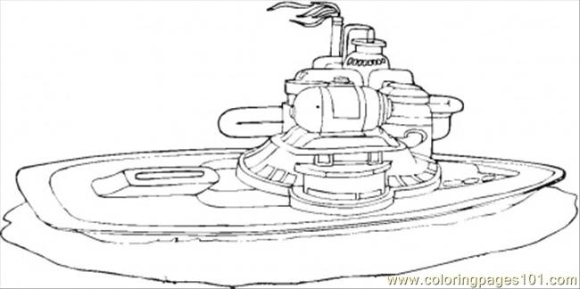 Coloring Pages Futuristic Submarine (Transport > Water