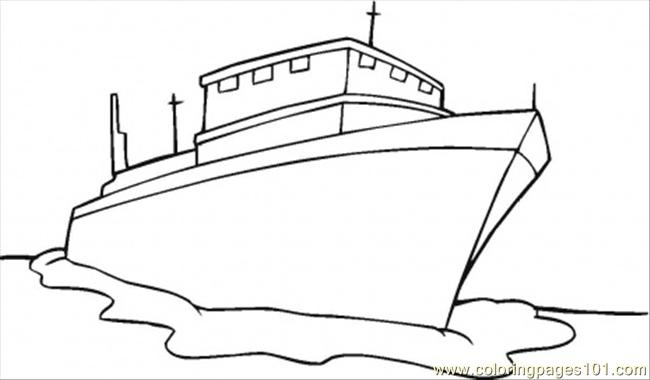 Coloring Pages Ship Transport