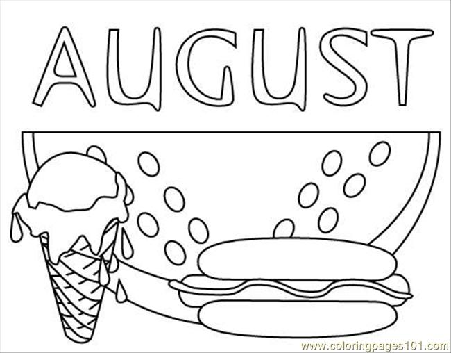 coloring pages for august - photo#1