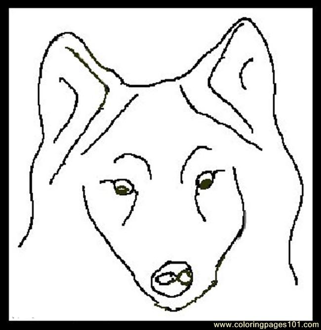 Wolf face coloring - photo#5