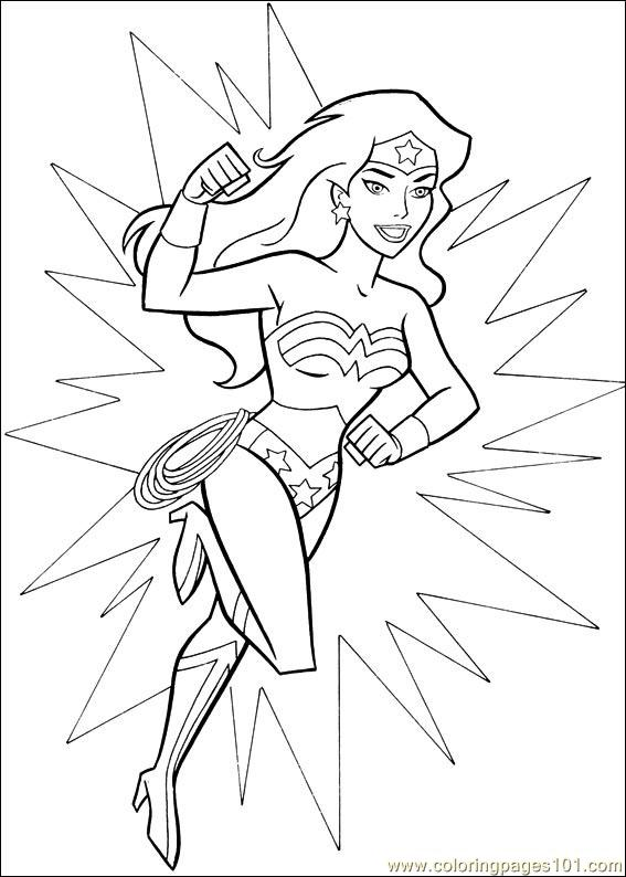 wonder woman coloring pages - photo#10