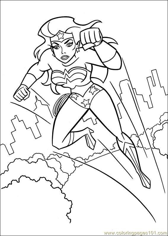 Coloring Pages Wonder Woman 46 Cartoons Gt Wonder Woman