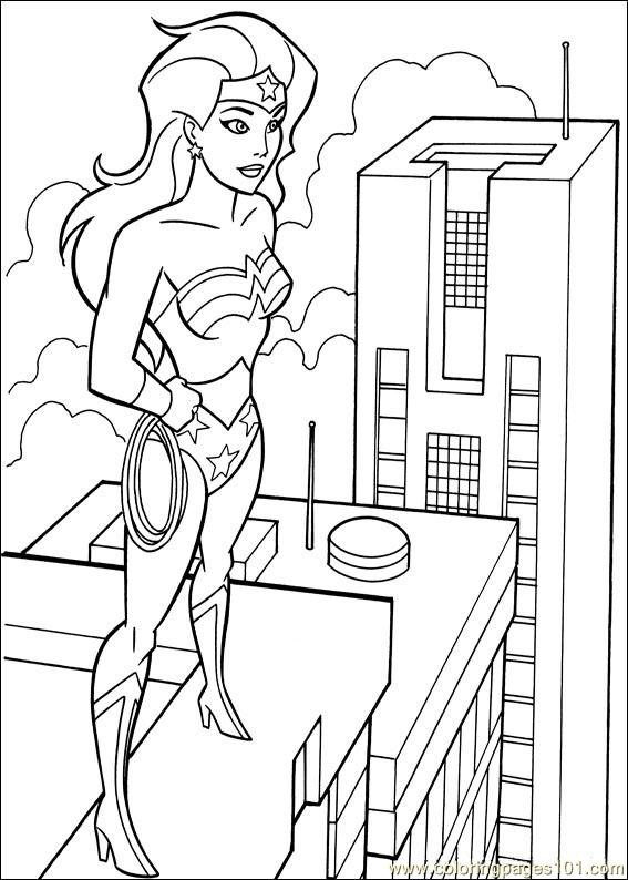 Coloring Pages Wonder Woman 48 Cartoons Gt Wonder Woman
