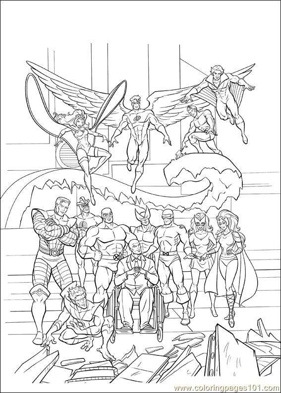 x man coloring pages - photo #28