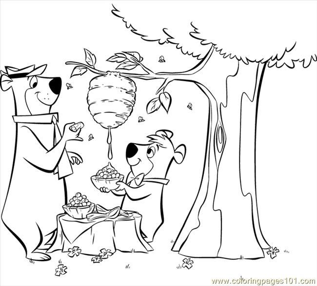 yogi bear cartoon coloring pages - photo#24
