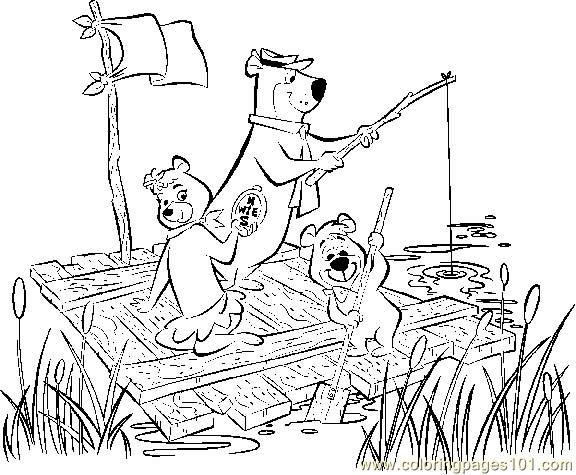 free coloring pages yogi bear - photo#36