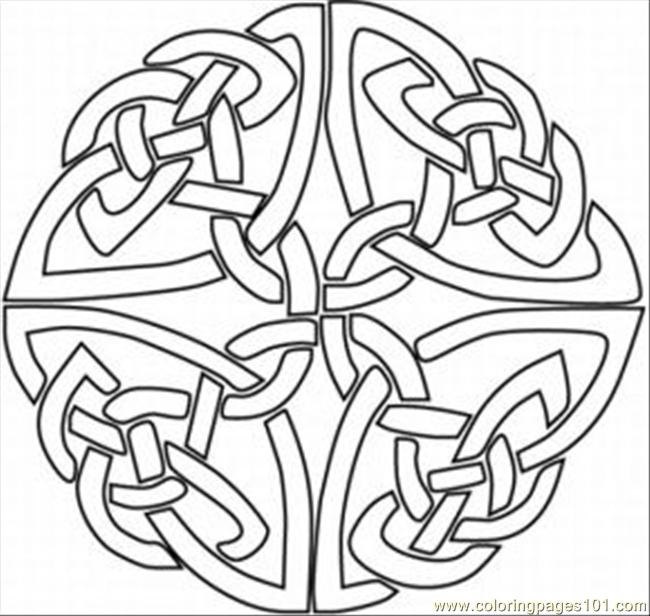 kaleidoscope designs free coloring pages - photo#6