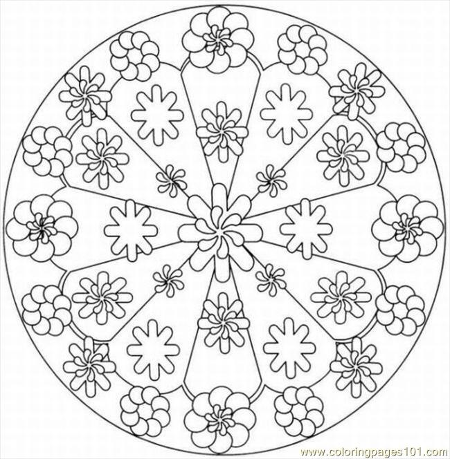 kaleidoscope designs free coloring pages - photo#12