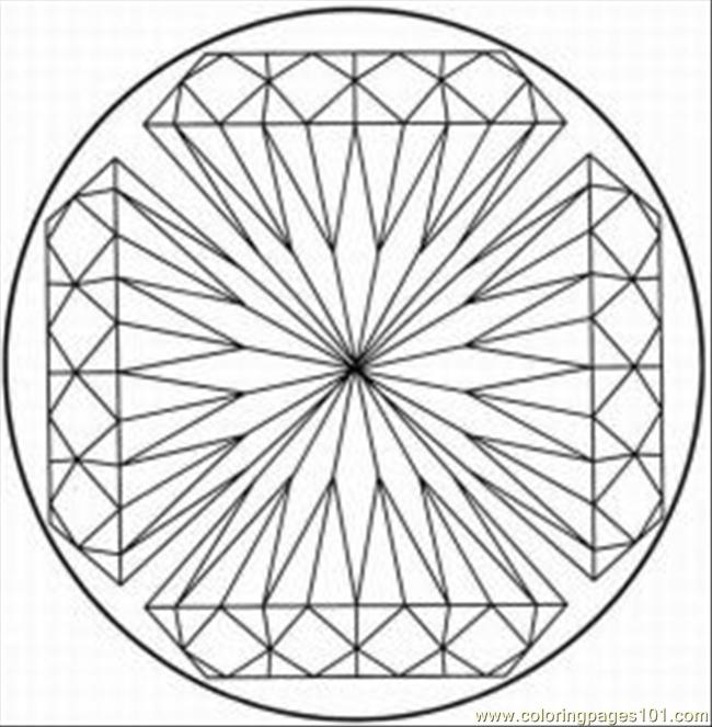kaleidoscope designs free coloring pages - photo#4