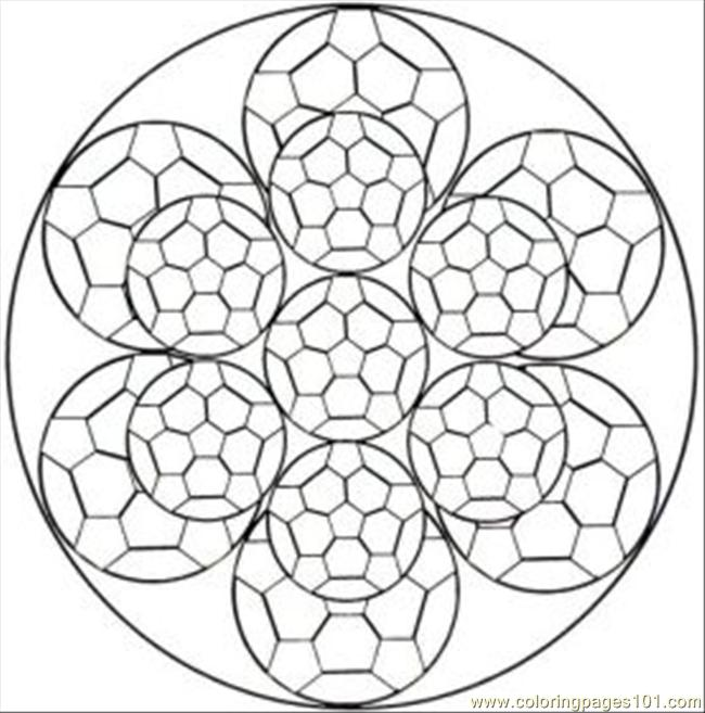 kaleidoscope designs free coloring pages - photo#9