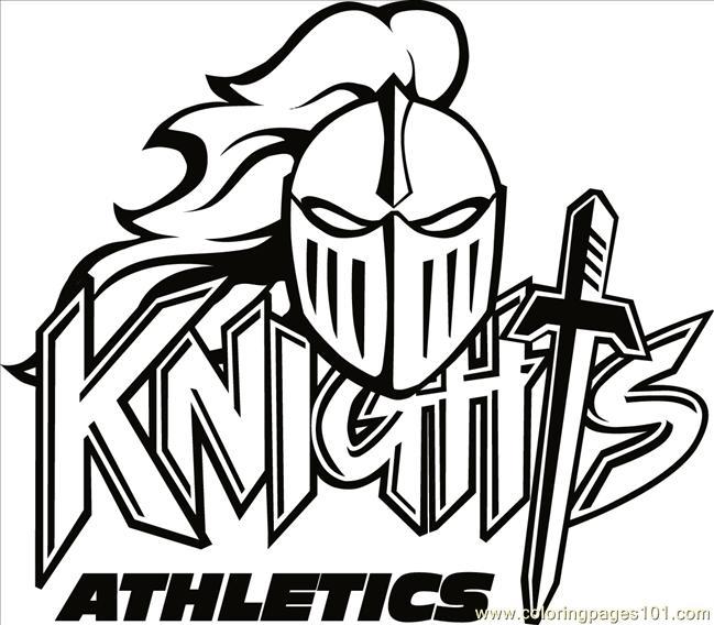 Knights Logo B2bw Coloring Page