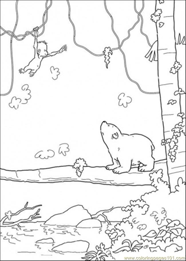 Free how to draw polar bear coloring pages