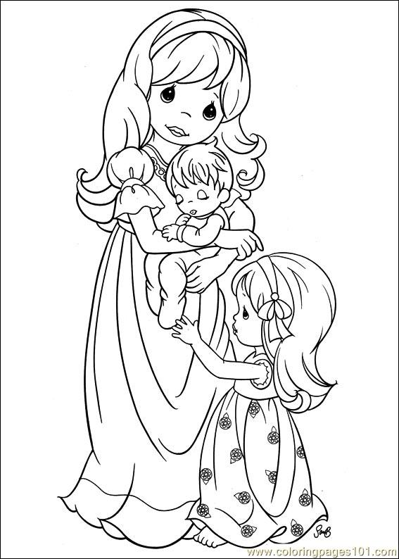 precious moment family coloring pages - photo#10