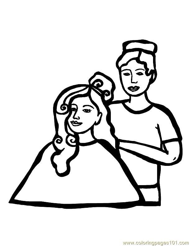 free hair coloring pages - photo#33