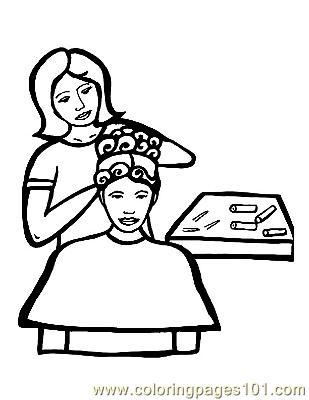 Hair Salon Coloring Pages Hair Salon Coloring Pages
