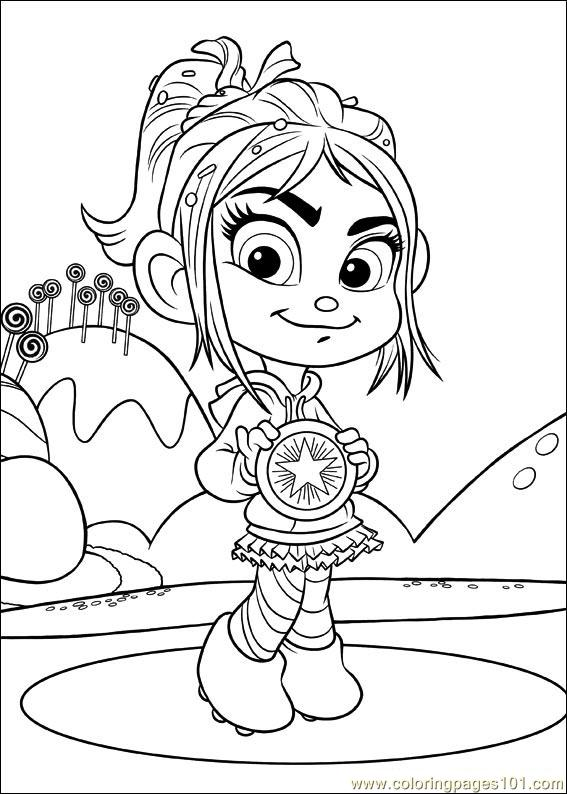 Wreck it ralph racers coloring pages coloring pages for Free wreck it ralph coloring pages
